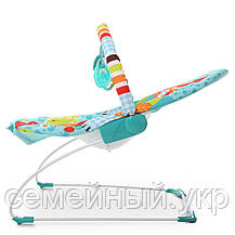 Детская шезлонг-качалка. Функция вибрации. Подвесные игрушки. Успокаивающая музыка. 6750, фото 2