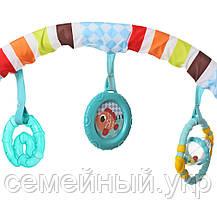 Детская шезлонг-качалка. Функция вибрации. Подвесные игрушки. Успокаивающая музыка. 6750, фото 3