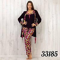 Комплект-тройка женский: халат, майка и штаны Pamuk (Турция) pmk3185
