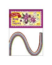 Набор для квиллинга №1 Скат 12 цветов, 5 мм *300 мм, 96 полосок УП-202
