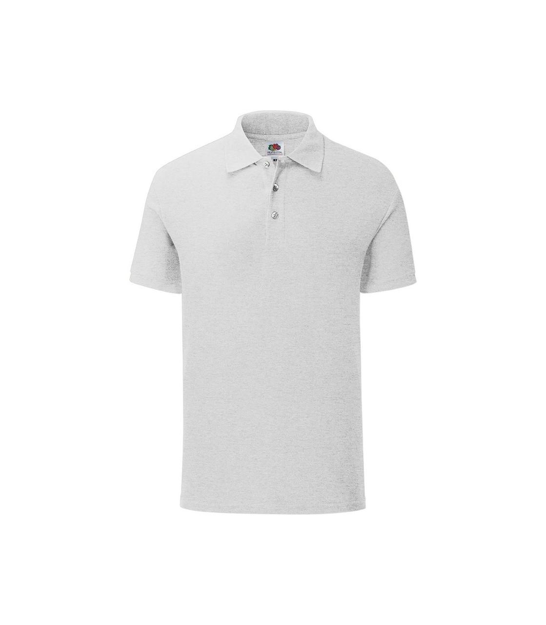 Мужская футболка поло хлопок светло-серая 044-94