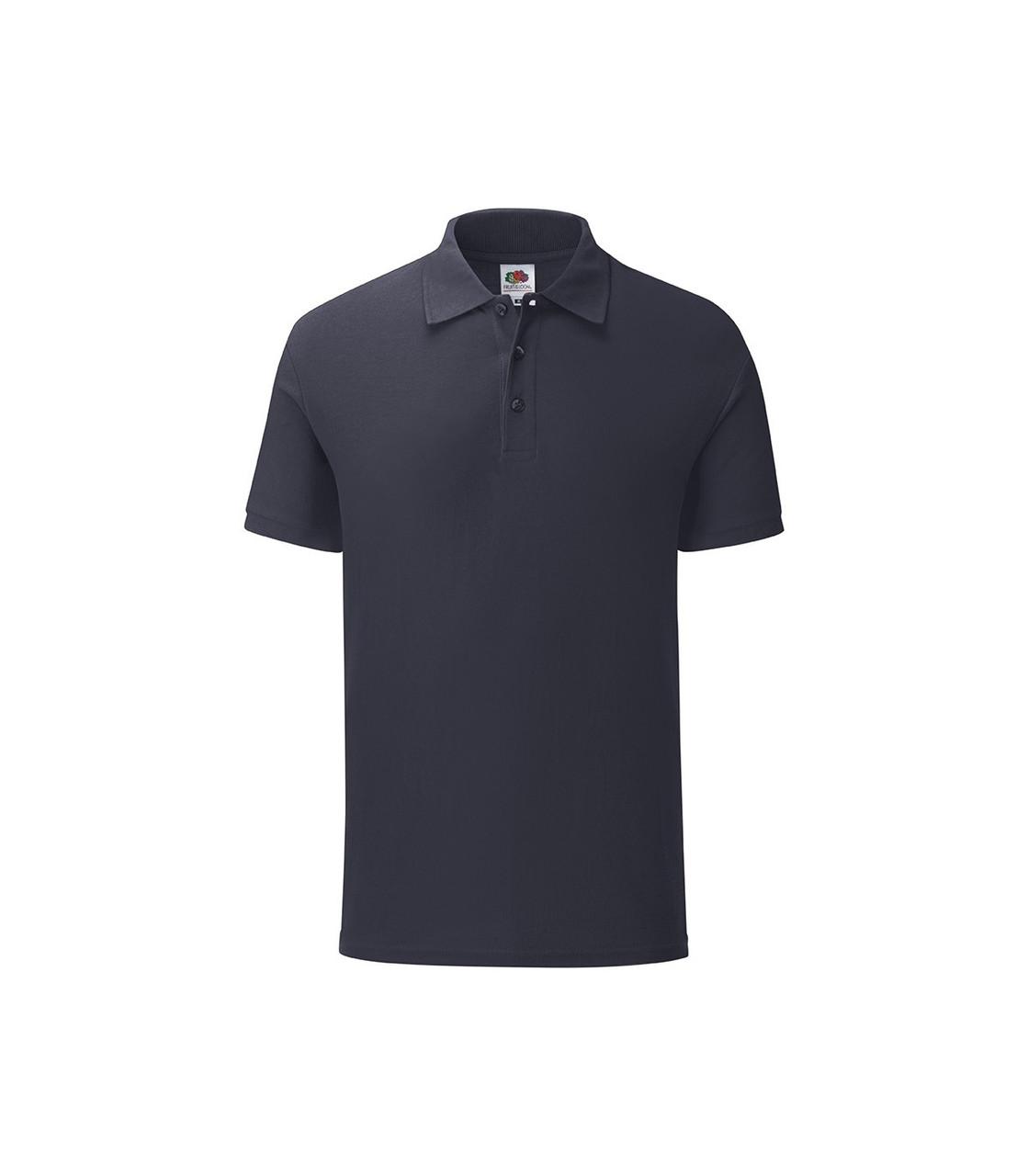 Мужская футболка поло хлопок темно-синяя 044-AZ