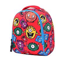 Рюкзак детский MK 3114 красный, монстры