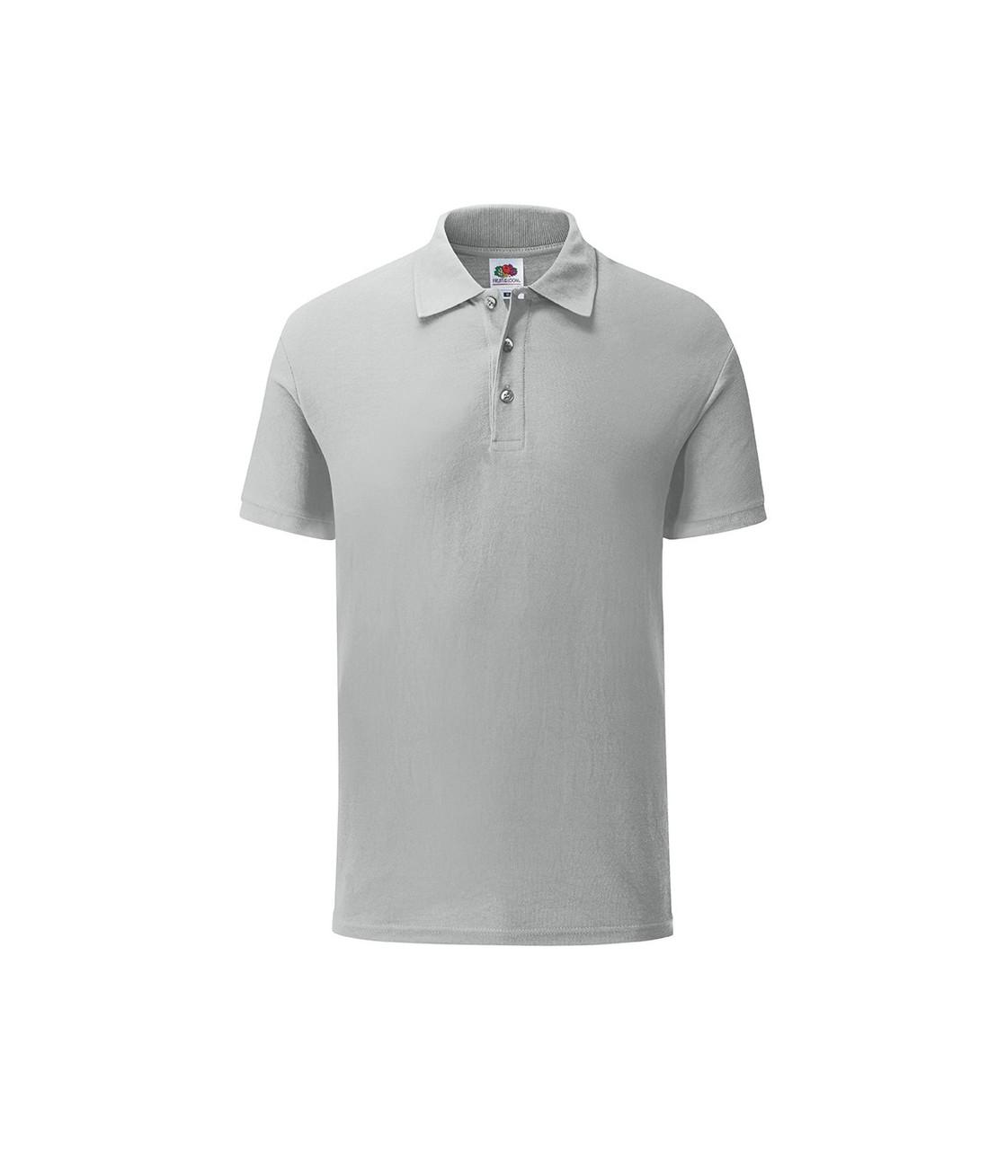 Мужская футболка поло хлопок серая 044-XW