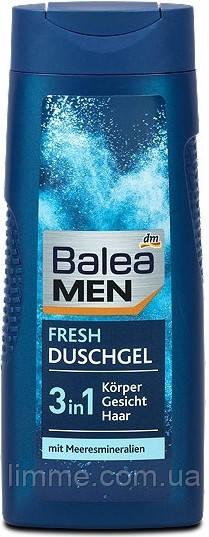Гель - шампунь Balea Men Fresh Duschgel 3в1 300 ml