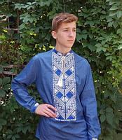 Сорочка вишита чоловіча МВ-12ч, фото 1