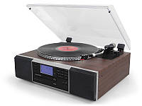 Деревянный Грамофон Проигрыватель Lauson CL142 Bluetooth CD USB Mp3 SD  + Пульт, фото 1