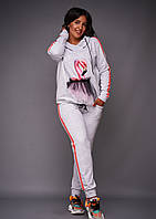 Женский спортивный костюм с лампасами большого размера для спорта и активного отдыха.Размеры:48-62.+Цвета, фото 1
