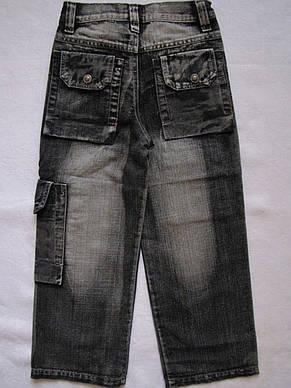 Джинсовые брюки для мальчиков 100,110,120,130,140 роста Накладные карманы, фото 2