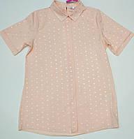 Нарядная блузка для девочки с коротким рукавом рост 146.152.158.164 см, фото 1