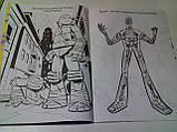 Раскраска А4 с наклейками 8 л, лиц. «Черепашки ниндзя» (розмальовка дитяча), фото 2