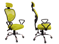 Кресло Офисное Сетка вращающейся колеса резиновые , фото 1