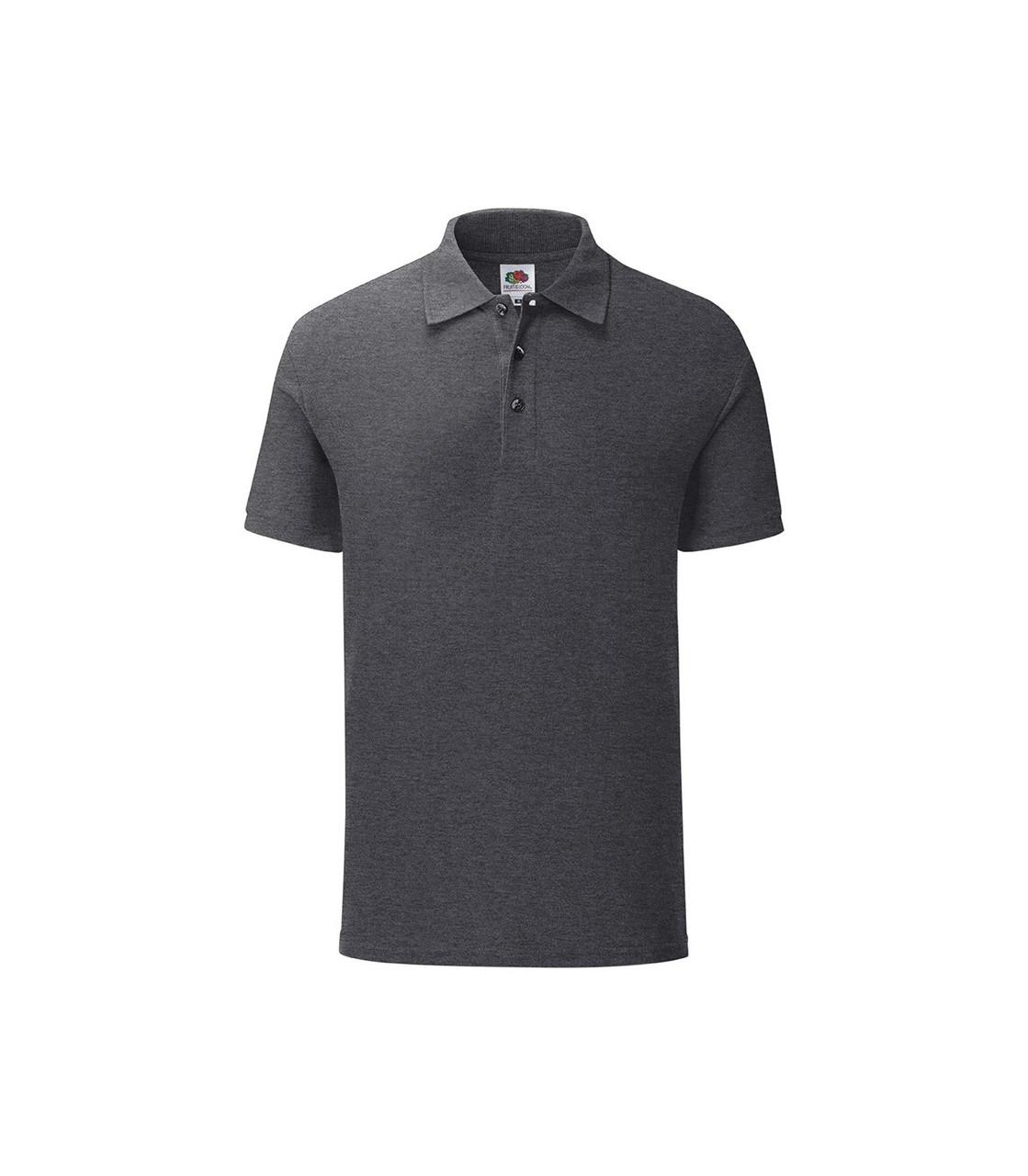 Мужская футболка поло хлопок темно-серая меланж 044-HD