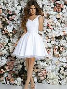 Короткое платье с небольшим шлейфом, 00060 (Белый), Размер 42 (S), фото 3