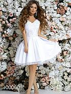 Короткое платье с небольшим шлейфом, 00060 (Белый), Размер 42 (S), фото 4