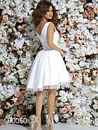 Короткое платье с небольшим шлейфом, 00060 (Белый), Размер 42 (S), фото 7