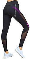 Женские спортивные лосины черного цвета, 1221