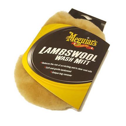 Рукавица лама для мойки - Meguiar's Lambs Wool Wash Mitt  (A7301), фото 2