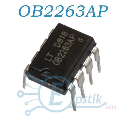 OB2263AP, контроллер питания, DIP8