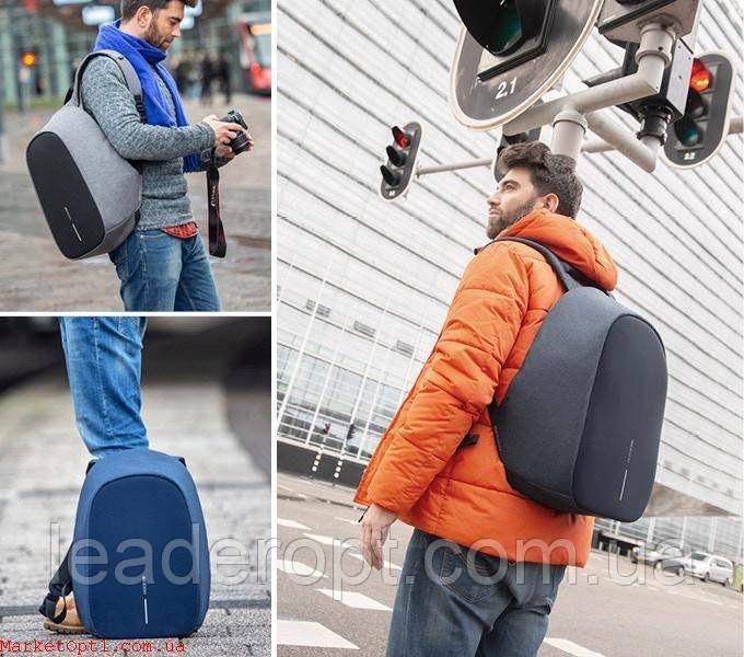 Рюкзак-протикрадій Bobby (Репліка) міський з USB портом і світловідбивними смугами ОПТ