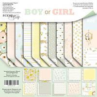 Набор бумаги для скрапбукинга Scrapmir Boy or Girl 20х20см SM5500016, фото 1