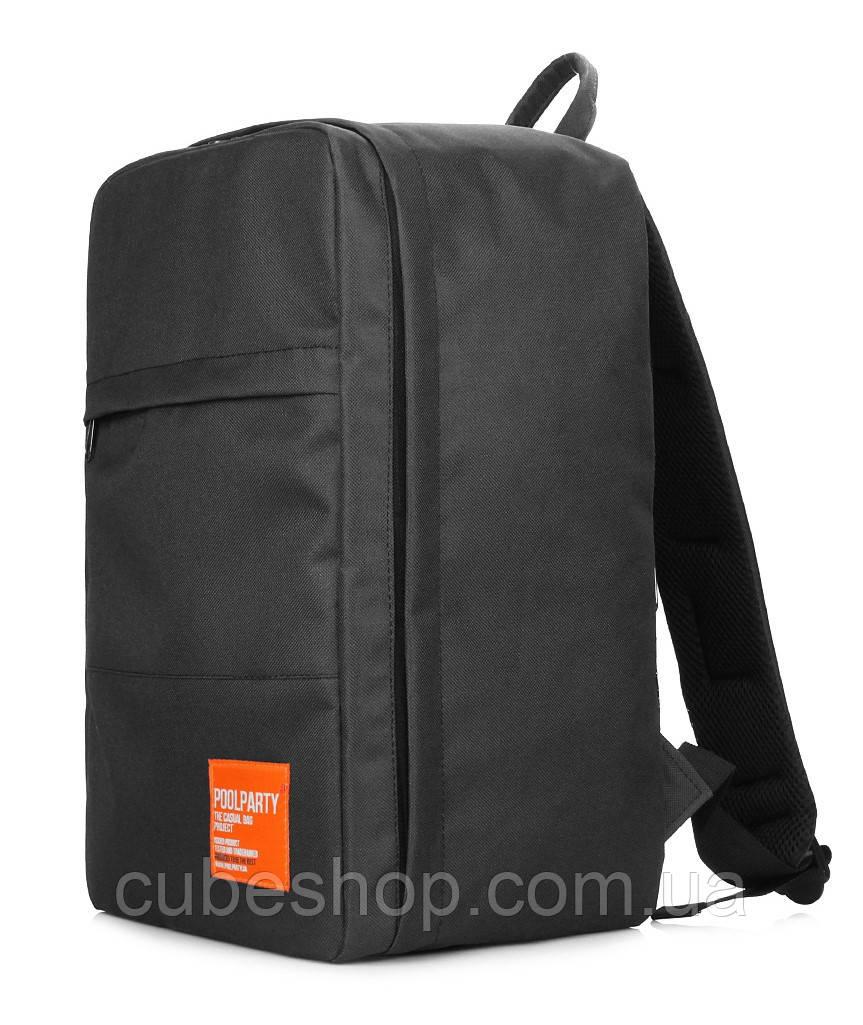 Рюкзак для ручной клади PoolParty HUB (черный) - Ryanair / Wizz Air / МАУ