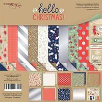 Набор бумаги для скрапбукинга Scrapmir Hello Christmas, 20х20см