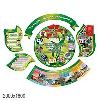 Комплект стендів для кабінету біології (круглий)