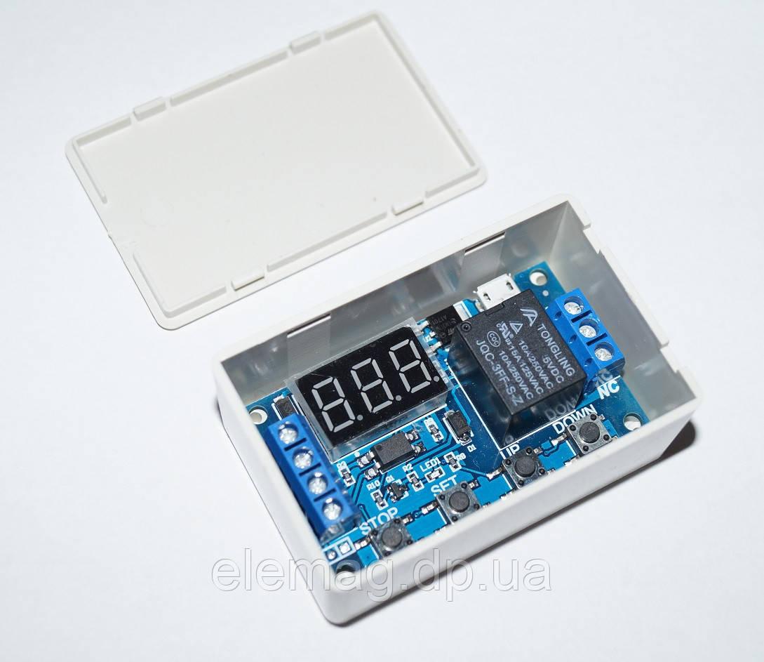 Циклический таймер в корпусе, реле задержки времени, USB