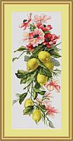 Набор для вышивки крестом Luca-S B210 Цветы и лимоны