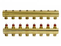 Коллектор для теплого пола 8+8 без расходомеров FHF-8 Danfoss