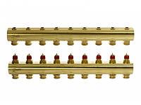 Коллектор для теплого пола 9+9 без расходомеров FHF-9 Danfoss