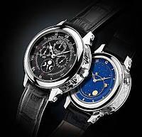 Мужские наручные часы Patek Philippe Sky Moon Tourbillon Silver Black реплика отличное качество Патек Филип