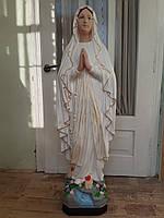 Скульптура Пресвятой Богородицы из белого бетона для памятников Покрова 1.30 м-100 кг