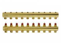 Коллектор для теплого пола 10+10 без расходомеров FHF-10 Danfoss