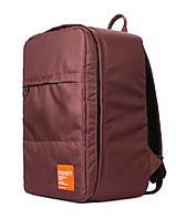 Рюкзак для ручной клади PoolParty HUB (коричневый) - Ryanair / Wizz Air / МАУ