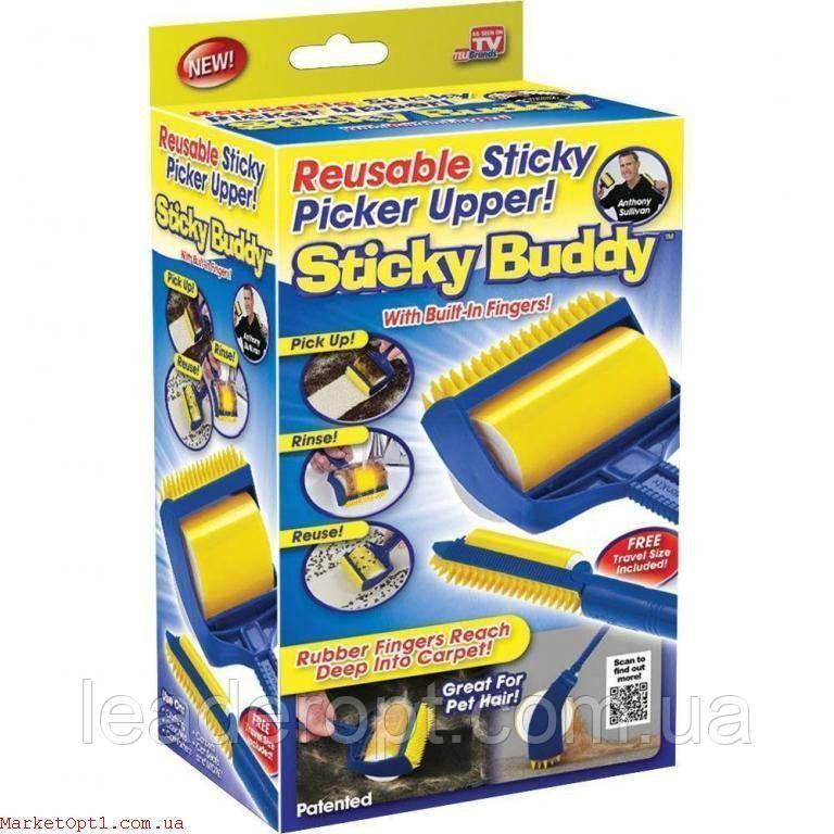 [ОПТ] Липкий валик для прибирання будинку і чищення одягу Sticky Buddy