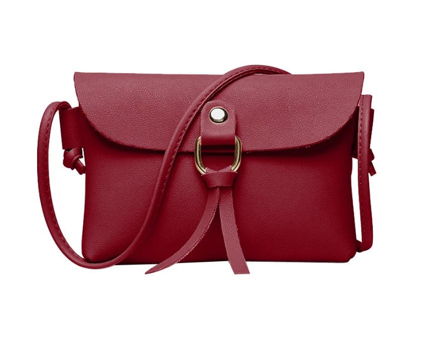 """Женская мини сумочка с ремешком через плечо """"Peace"""", цвет вишневый"""