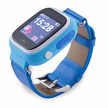Детские умные Smart часы Q80S + GPS трекер Голубые, фото 3