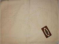 Полотенце махровое для ног, кремовое