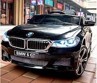 Детский электромобиль БМВ BMW 6 GT черный (белый, красный). JJ2164EBLR-2. Колеса EVA,кожаное сиденье. Лицензия