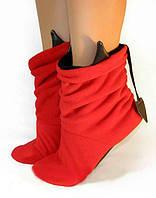 Тапочки Чертики красные с черными рожками