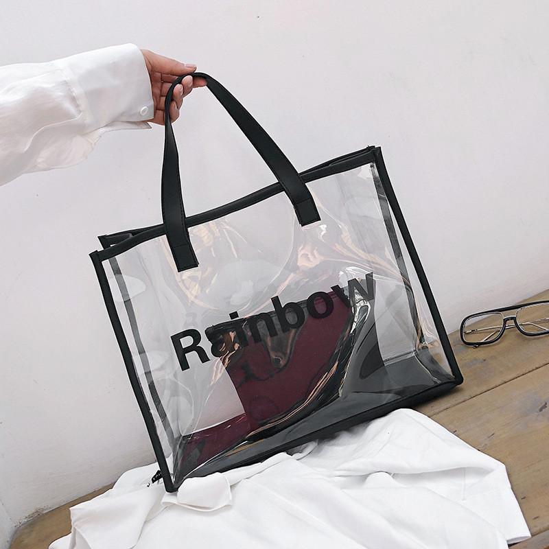 Сумка прозрачная из PVC с косметичкой, фото 1