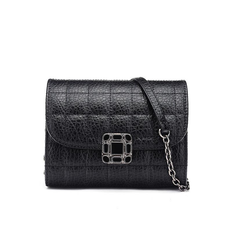 Женская сумка клатч черная из экокожи