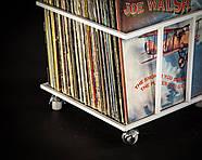 """Металлический контейнер для хранения виниловых пластинок """"Модель II"""" (белый), фото 3"""