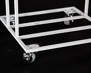 """Металлический контейнер для хранения виниловых пластинок """"Модель II"""" (белый), фото 5"""