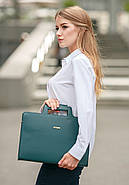 Женская деловая сумка для ноутбука и документов (малахит) , фото 2