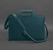 Женская деловая сумка для ноутбука и документов (малахит) , фото 4