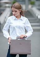 Жіноча ділова сумка для ноутбука і документів (мокко), фото 2