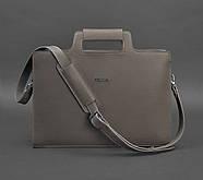 Жіноча ділова сумка для ноутбука і документів (мокко), фото 3